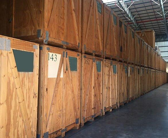 wooden self storage units