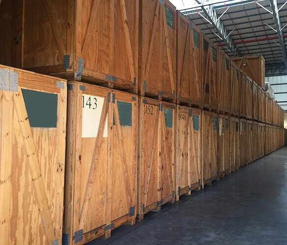 wooden self storage units