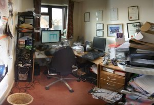 An untidy room